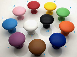 Colorful Knob Cabinet Door Pull Drawer Knobs Orange Yellow Red Pink Blac... - $4.50