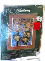 """Elsa Williams Needlepoint """"Reflections of an October Afternoon"""" 2000 12"""" x 16"""" - $29.65"""