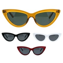 Womens Gothic Cat Eye Retro Simple Mod Plastic Sunglasses - $9.95