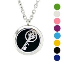 AZORA Key Pattern Aromatherapy Essential Oil Diffuser Necklace Locket Ro... - $11.99