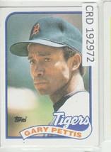 1989 Topps Gary Pettis Detroit Tigers Baseball Card #146 192972 - $1.86