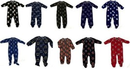 NFL Infant Boy's Sleeper Raglan Footed Coverall Full Zip Baby One-Piece Pajamas