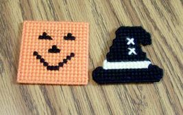 Plastic Canvas Halloween Magnet, Fridge, Needlepoint, Handmade, Holiday - $11.00