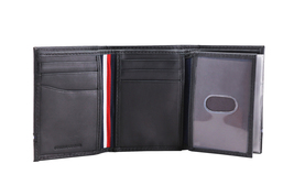Tommy Hilfiger Men's Leather RFID Extra Capacity Trifold Wallet 31TL110044 image 8