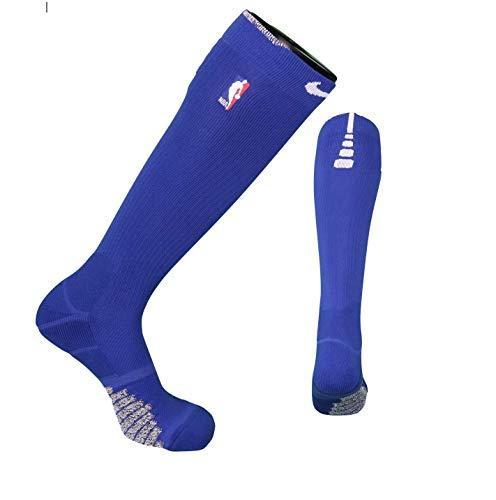 Nike NBA Authentics Detroit Pistons Basketball Calf Socks Team Issued (Blue/Gray - $34.60