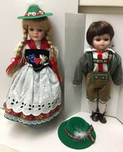 Girl & Boy - assumed 2 b Schneider Porcelain Dolls  Bavarian Traditional... - $19.54