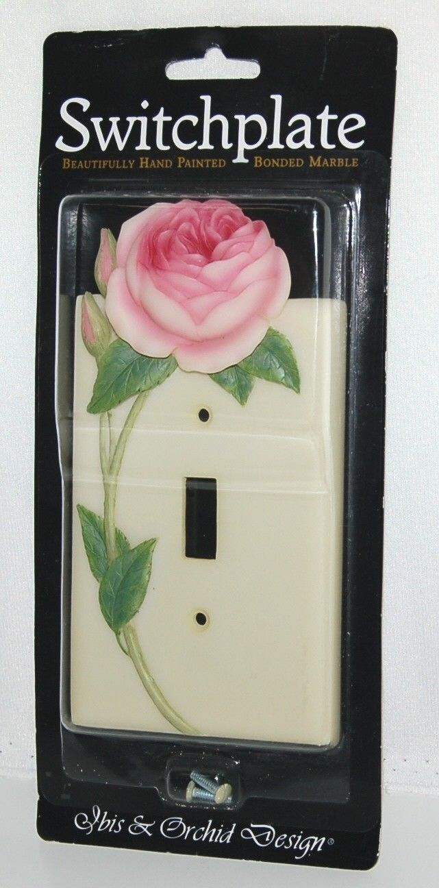 Ibis Orchid Design 34004 Single Switch Switchplate English Rose