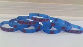 "WWE - Glow in the Dark - JOHN CENA ""NEVER GIVE UP"" bracelets kids party ... - £14.30 GBP"