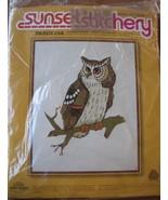 Sunset Stitchery 2403 Majestic Owl Crewel Embroidery Design Printed 1975 - $5.93