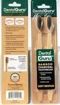 2Pks Dental Guru Bamboo Charcoal Infused Soft Bristle Biodegradable Toot... - $13.99