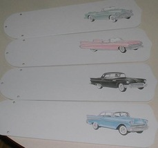 CUSTOM VINTAGE CARS FROM THE 50'S CEILING FAN PINK CADILLAC - $89.99