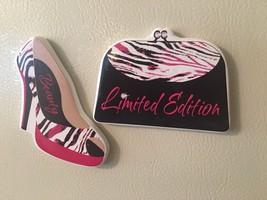 Ladies Gift Pink White Black High Heel Shoe Purse Ceramic Refrigerator M... - $7.92