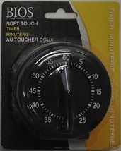 Bios DT125 60min Kitchen Cooking Timer Mechanical Rubberized Soft To Tou... - $8.91
