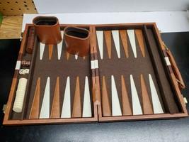 Travel Backgammon Set - 8 x 11 Inch - Vinyl case with zipper - MISSING D... - $17.38