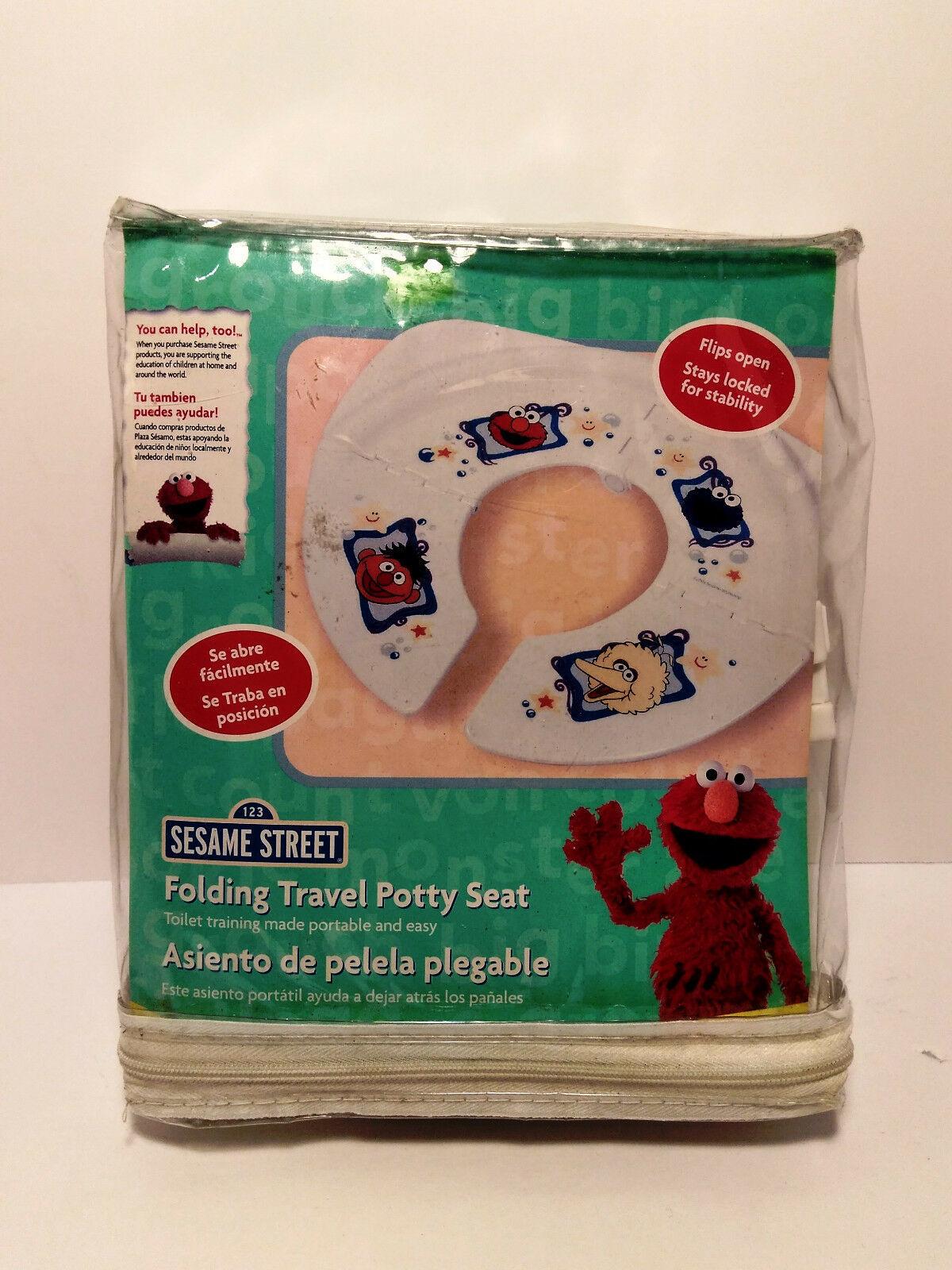 Sesame Street Folding Travel Potty Seat White