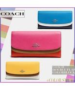 Coach 53858 Colorblock Double Flap Envelope Wallet New/ DEFECTS - $54.44+
