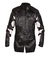 Hawkeye Avengers Endgame Clint Barton Costume Jeremy Renner Black Leather Jacket image 1