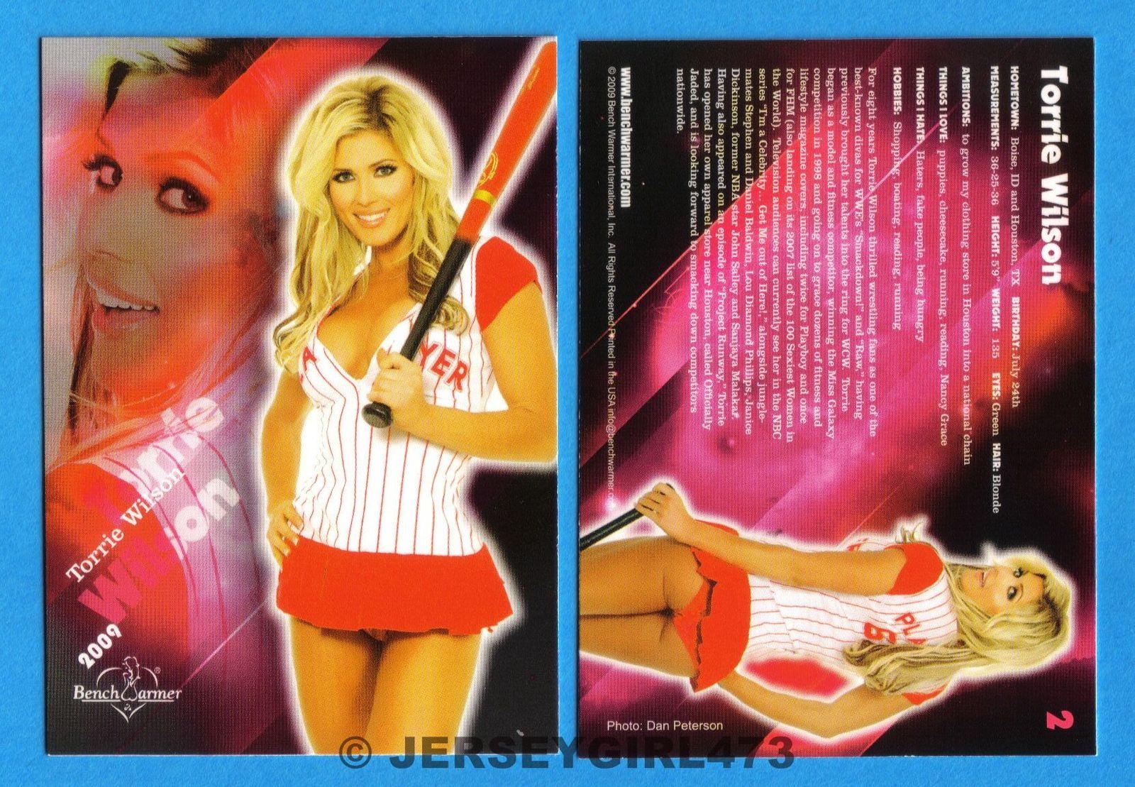 Torrie Wilson 2009 Bench Warmer Limited Series Card #2 ~ WWE DIVA