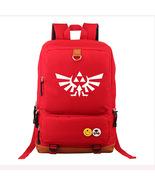 Legend of Zelda Series Backpack Schoolbag Daypack Bookbag Red Logo - $28.99
