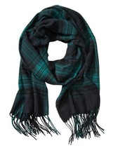 NWT Banana Republic Black & Green Plaid Scarf $50 - $16.83