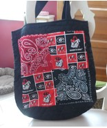 Black and red quilted University of Georgia tote Bag - $12.00