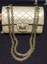 Authentic Chanel Classic 2.55 Reissue Small 20CM Double Flap Bag Champag... - $3,199.99