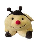 "Bumble Bee Pillow Pet Foldable Kids Stuffed Animal Toy Plush 18"" Yellow ... - $11.73"