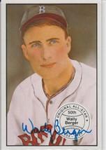 Wally Berger Signed Autographed 1983 Big League Baseball Card - Boston B... - $19.99
