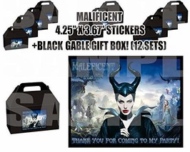 DreamPartyWorld Maleficent Party Favor Boxes with Thank You Decals Stick... - $24.70