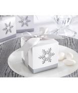 144 Winter Dreams Snowflake Candy Mint Bridal Wedding Favor Boxes - €88,06 EUR
