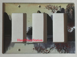 Famous Chinese Landscape Painting Light Switch Outlet Duplex Wall Cover Plate image 5