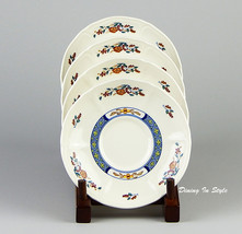 Set of 4 Saucers, SUPERB! Chinese Teal, Wedgwoo... - $9.70