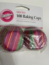 """Wilton Snappy Stripes Mini Size Cupcake Muffin Liners Baking Cups 1.25"""" - 100ct - $5.94"""