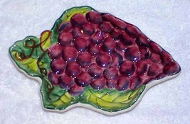 "GRAPES Vintage California Pottery 8"" Dish - $9.99"