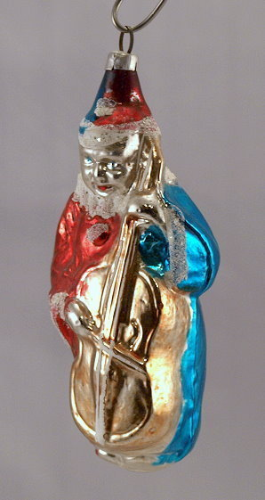 "Primary image for Old 3 1/2"" Boy Clown with Violin Glass Ornament"