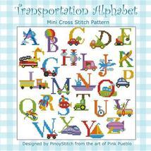Alphabet Transportation Sampler cross stitch chart Pinoy Stitch - $7.20