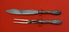 """Rose by Stieff Sterling Silver Steak Carving Set 2pc Fork 9 1/8"""" & Knife 11 5/8"""" - $129.00"""
