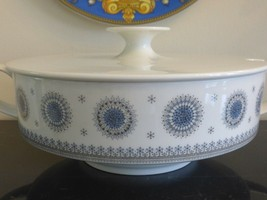 "ROSENTHAL TAPIO WIRKKALA ICE BLOSSOM 1960S ROUND COVERED CASSEROLE 14"" WIDE - $99.00"