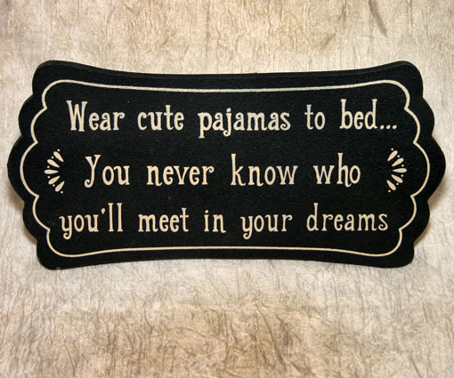 Plaque cute pjs