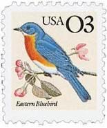 1991 3c Eastern Bluebird Scott 2478 Mint F/VF NH - $0.99
