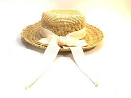 SCALA Collection Natural Fiber wide brim pretty bow sun hat FREE SHIPPING!  - $19.75