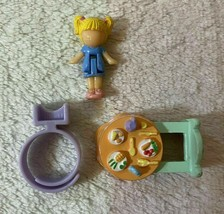 Bluebird Vintage Polly Pocket Tiny Tina's Dinner Time Table Doll & Ring - $24.99