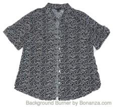 GEORGE Size 16-18 (XLarge) White/Black Polka Dot Shirt - $7.99
