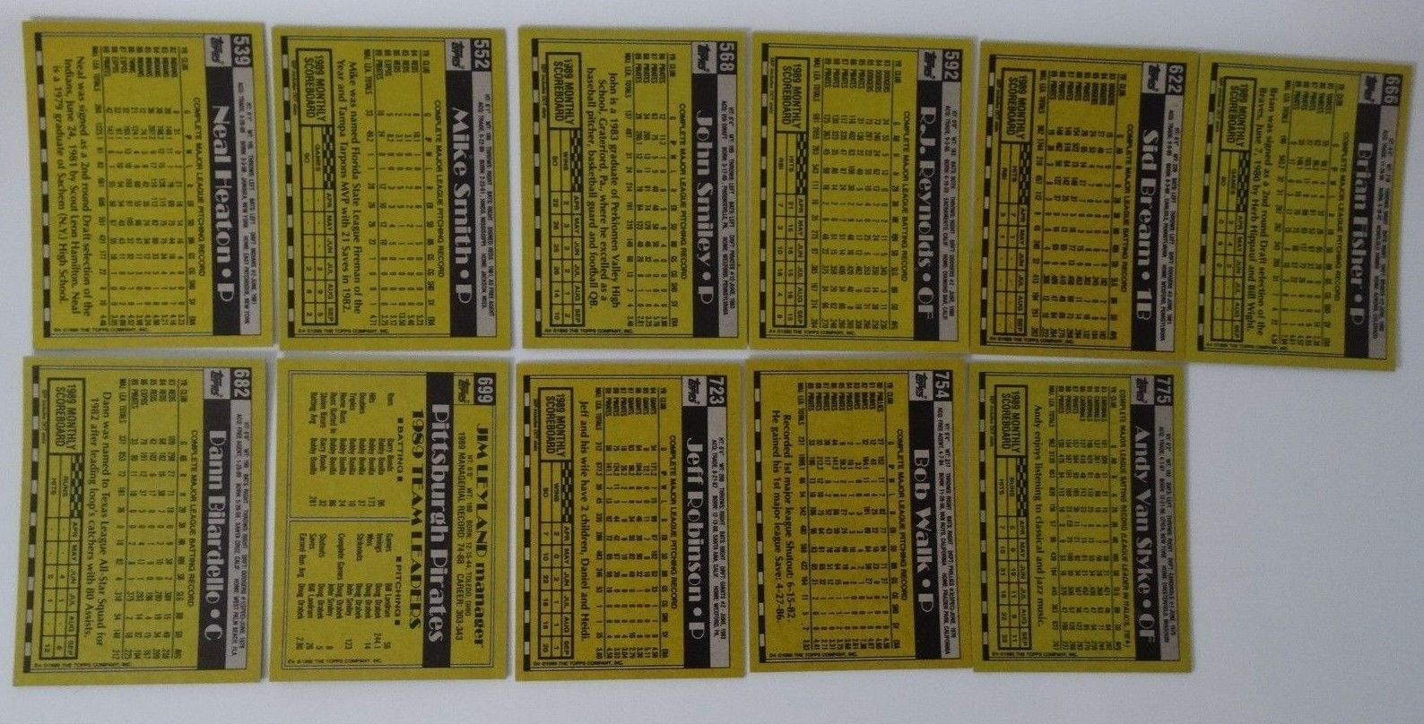 1990 Topps Pittsburgh Pirates Team Set of 29 Baseball Cards image 6