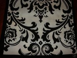 """Damask Table Square Black White Bridal Traditions 24"""" - $9.50"""