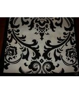 "Damask Table Square Black White Bridal Traditions 24"" - $9.50"