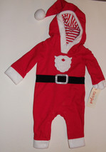 Baby Cat & Jack Infant Santa Christmas Outfit Hooded NB  NWT - $10.71