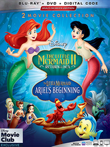 The Little Mermaid II and Ariel's Beginning Disney Blu-ray + DVD + Digit... - $44.56