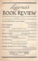 Lauriat's Illustrated Book Review and Catalog for April 1925 - $18.00