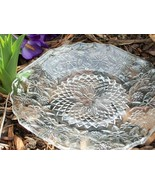 Clear Luncheon Plates w Flowers Depression Glass Pressed Glass Pineapple... - $22.00